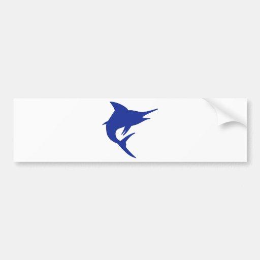 Blue Marlin Fish Bumper Stickers