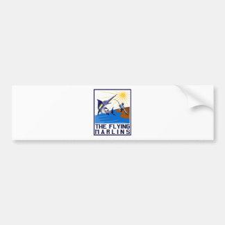 blue marlin fish jumping bumper sticker