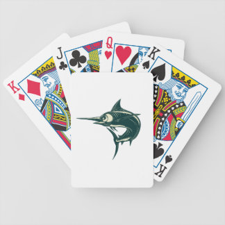 Blue Marlin Jump Scratchboard Bicycle Playing Cards