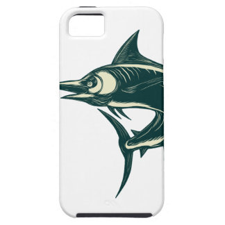 Blue Marlin Jump Scratchboard Case For The iPhone 5