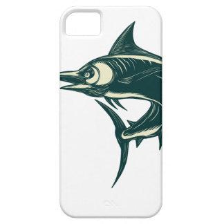 Blue Marlin Jump Scratchboard iPhone 5 Case