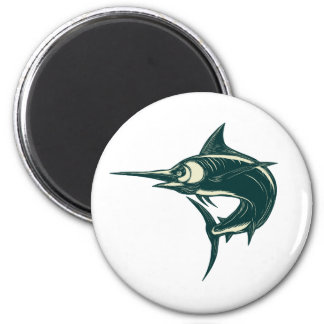 Blue Marlin Jump Scratchboard Magnet