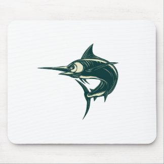 Blue Marlin Jump Scratchboard Mouse Pad