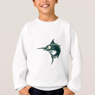 Blue Marlin Jump Scratchboard Sweatshirt