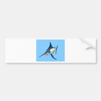 Blue marlin swimming bumper stickers