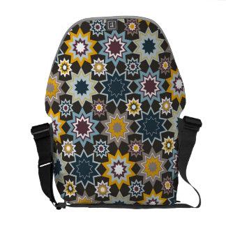 Blue Marrakesh Stars Art Pattern Vector Art Bag Messenger Bags