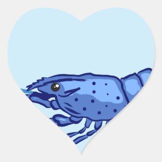 Blue Marron Sketch Heart Sticker