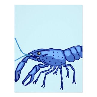 Blue Marron Sketch Letterhead