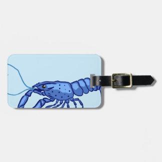 Blue Marron Sketch Luggage Tag