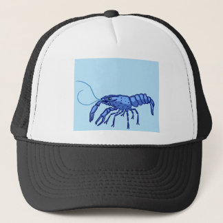 Blue Marron Sketch Trucker Hat