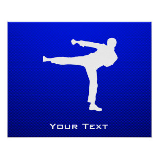 Blue Martial Arts Poster