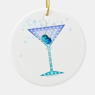 Blue Martini Ornament