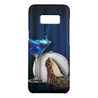 blue martini party girly stilettos Case-Mate samsung galaxy s8 case