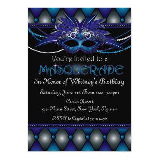 Blue Masquerade Invitations