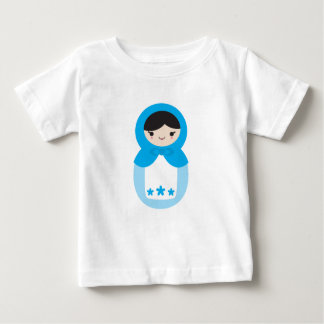 Blue Matryoshka Doll Baby T-Shirt
