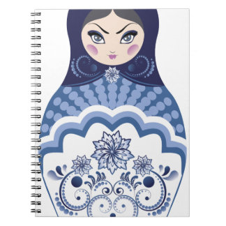 Blue Matryoshka Doll Notebooks
