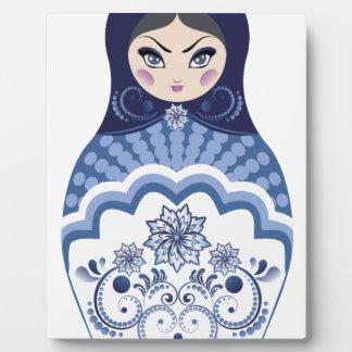Blue Matryoshka Doll Plaque