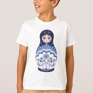 Blue Matryoshka Doll T-Shirt