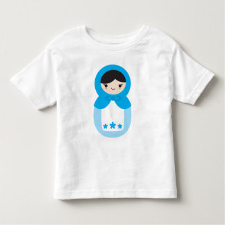 Blue Matryoshka Doll Toddler T-shirt