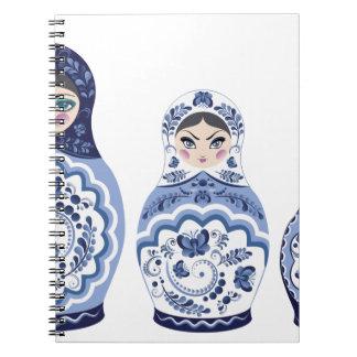 Blue Matryoshka Dolls Notebooks