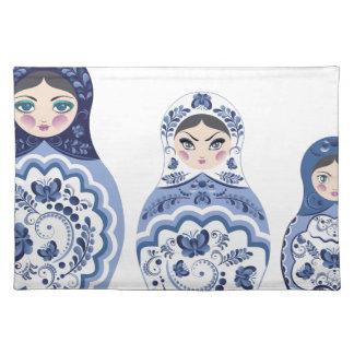 Blue Matryoshka Dolls Placemat