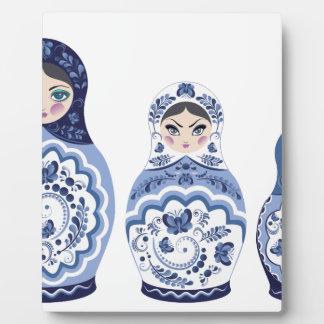Blue Matryoshka Dolls Plaque