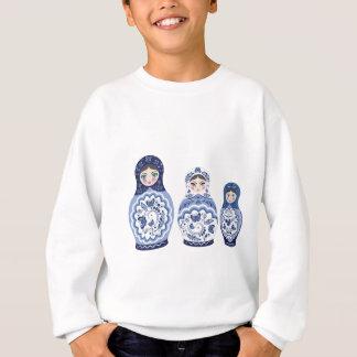 Blue Matryoshka Dolls Sweatshirt