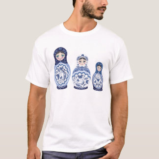 Blue Matryoshka Dolls T-Shirt