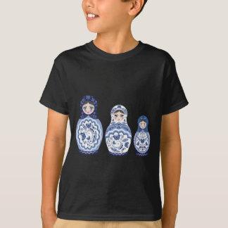 Blue Matryoshka Dolls T-Shirt