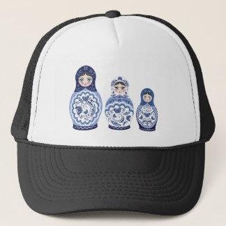 Blue Matryoshka Dolls Trucker Hat