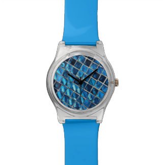 Blue May 28th watch with blue mosaic face