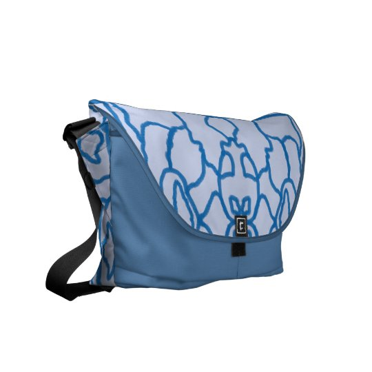 Blue maze commuter bag