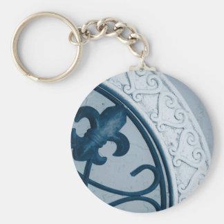 Blue Medallion keychain