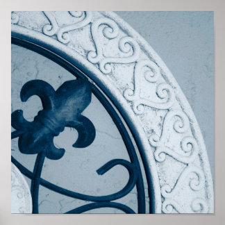 Blue Medallion print