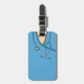 Blue Medical Scrubs Luggage Tag