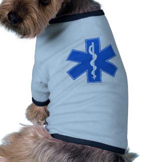 Blue Medical Sign Dog Tee Shirt