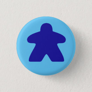 Blue Meeple 1 Inch Round Button