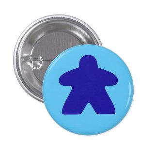 Blue Meeple 1 Inch Round Button