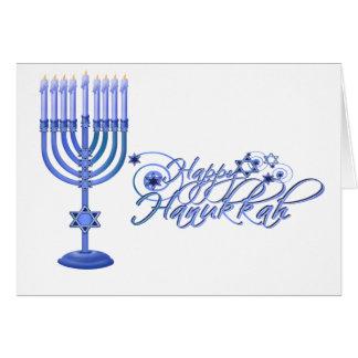 Blue Menorah Card