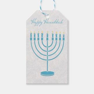 Blue Menorah, Happy Hanukkah Gift Tags