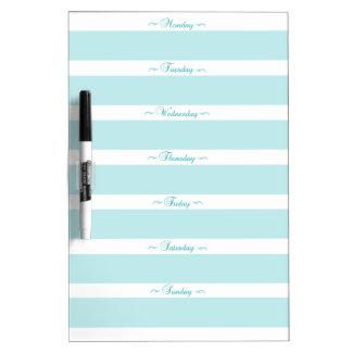 Blue MENU Dry Erase Board