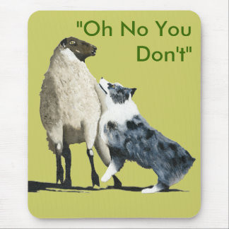 Blue Merle Aussie Stockdog Mouse Pad