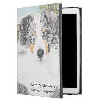 """Blue Merle Australian Shepherd Dog Portrait iPad Pro 12.9"""" Case"""
