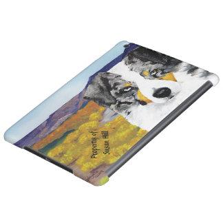 Blue Merle Australian Shepherd, fall in Rio Arriba iPad Air Covers