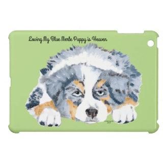 Blue Merle Australian Shepherd Puppy Cover For The iPad Mini