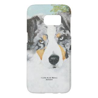 Blue Merle Australian Shepherd Samsung Galaxy S7 Case
