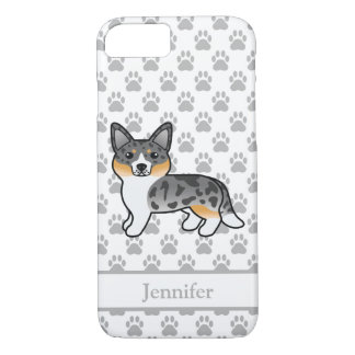Blue Merle Cardigan Welsh Corgi & Custom Name iPhone 8/7 Case