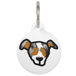 blue_merle mini aussie front 2 side pet ID tag