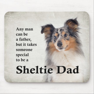 Blue Merle Sheltie Dad Mousepad