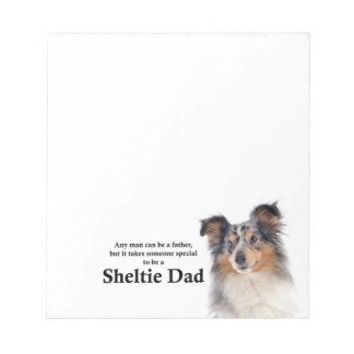 Blue Merle Sheltie Dad Notepad